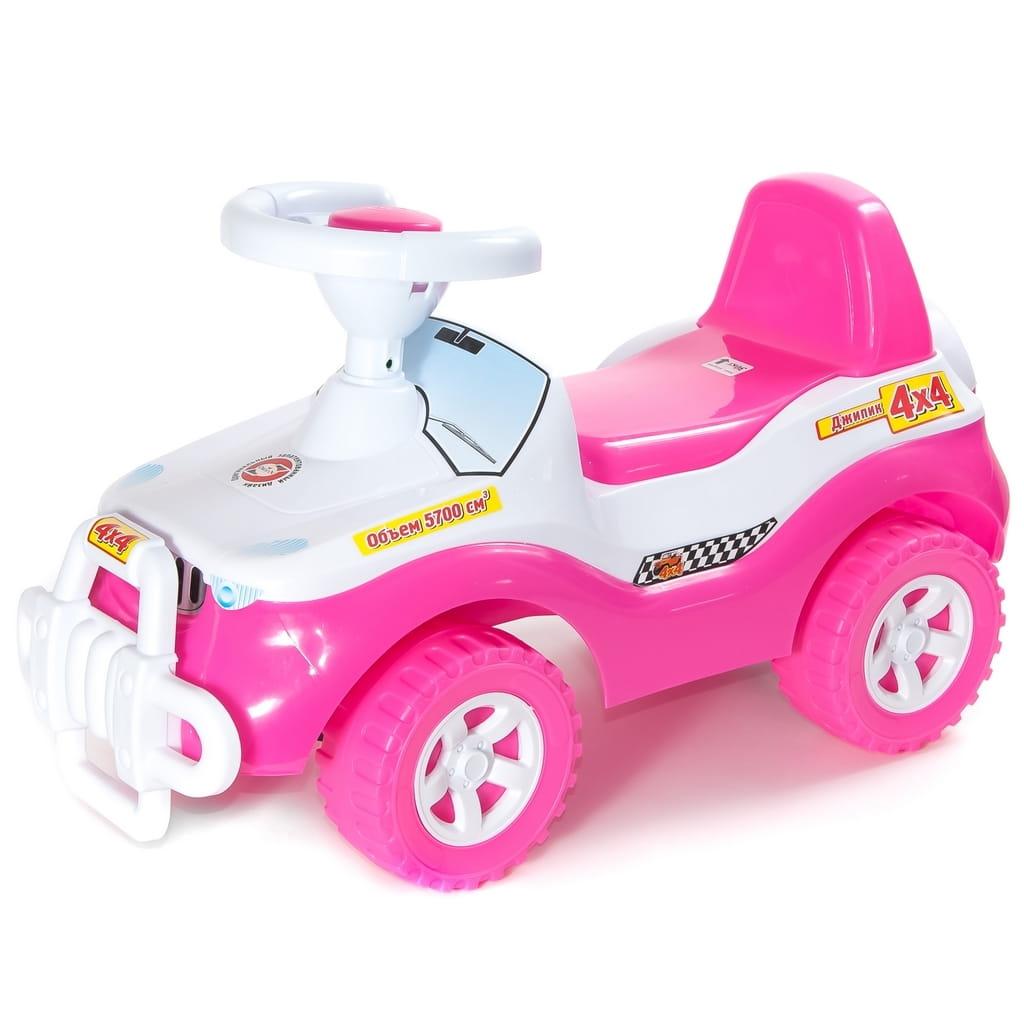 Каталка RT 5675 Джипик - розовая (в пакете)