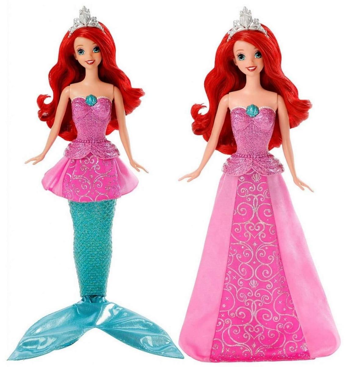 Кукла Disney Princess Y9955 Ариэль 2 в 1 (Mattel)