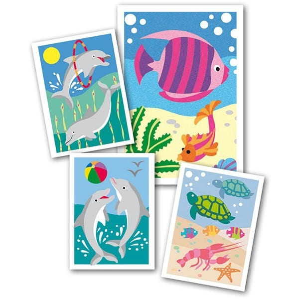 Песочные картинки SENTOSPHERE Рыбки и дельфин