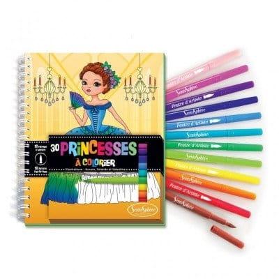 Книга-раскраска SentoSphere 9105 Принцессы (с фломастерами)