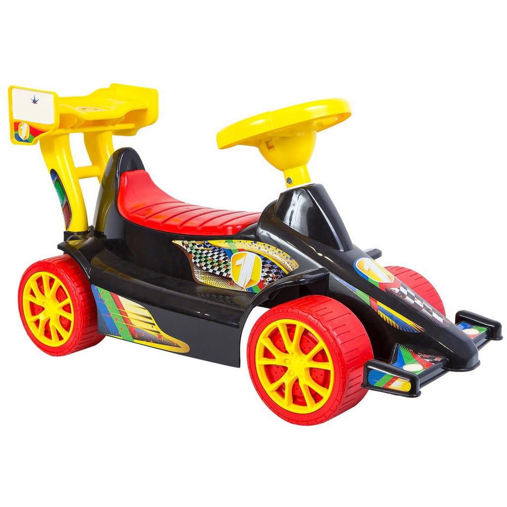 Каталка RT 5293 Спорткар Sport - черно-красная