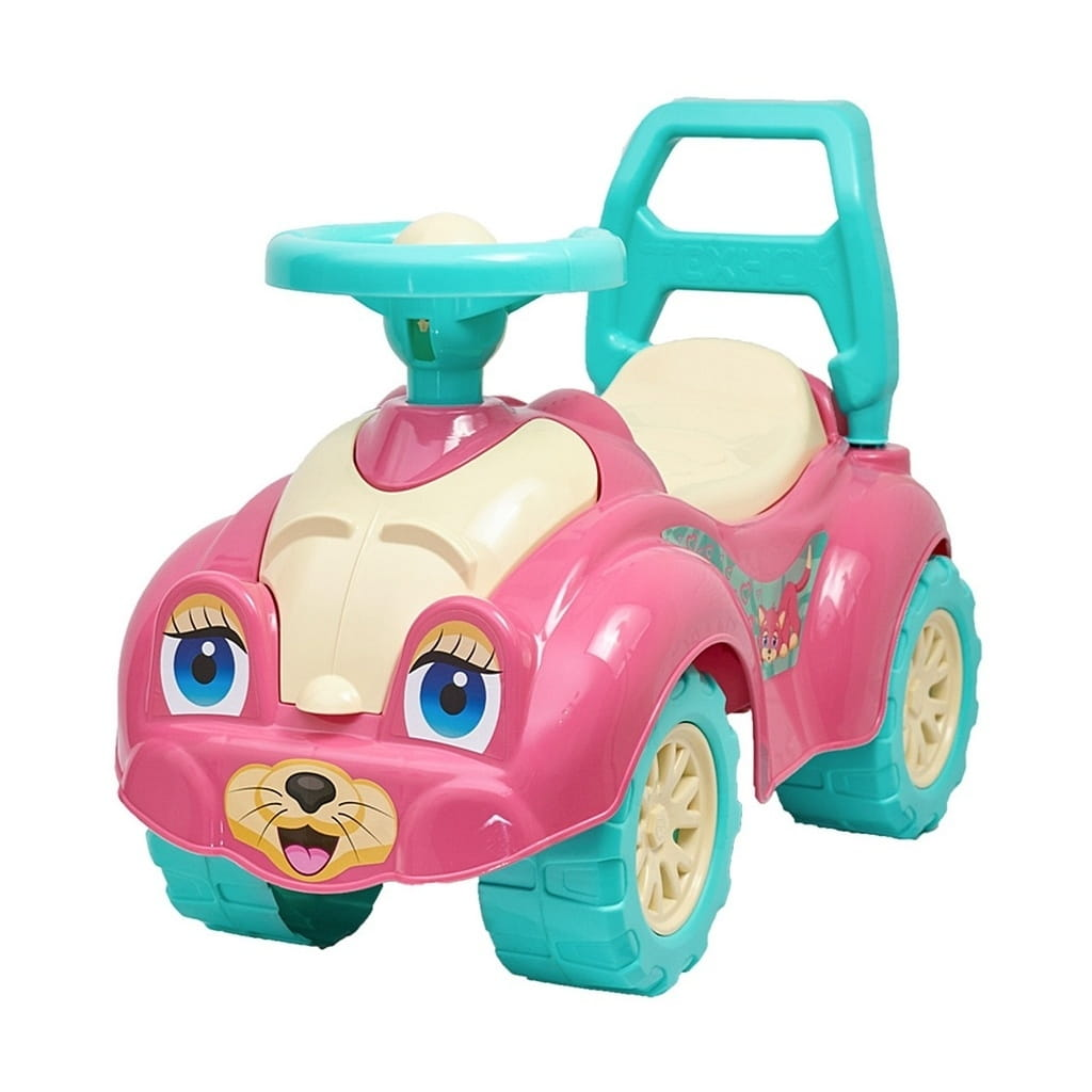 Каталка RT 5245 Zoo Animal Planet Кошка - розовая (в коробке)