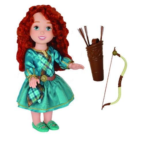 Купить Игровой набор с куклой Disney Princess Малышка Мерида с луком и колчаном (Jakks Pacific) в интернет магазине игрушек и детских товаров