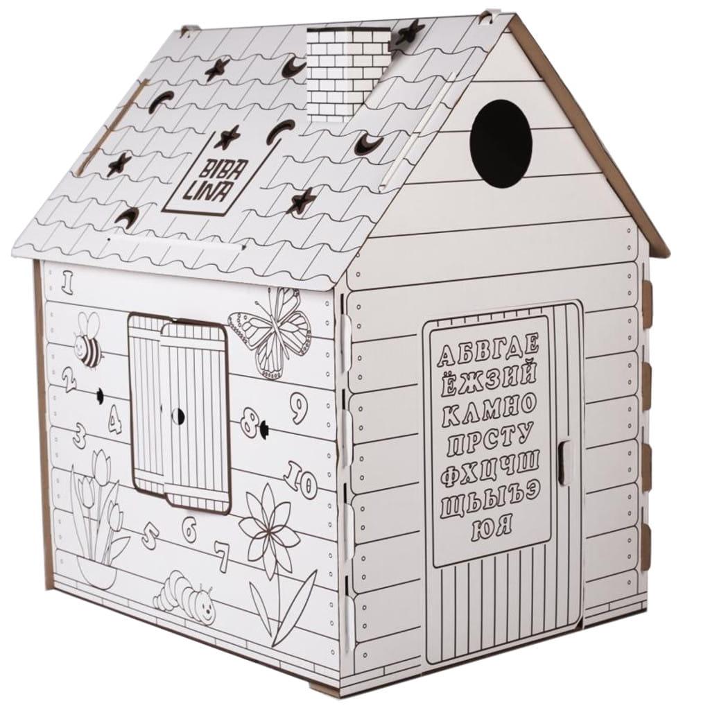 Игровой домик - раскраска BIBALINA