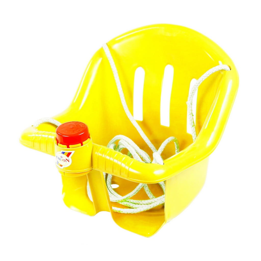 Качели RT с барьером безопасности - желтые (с клаксоном)
