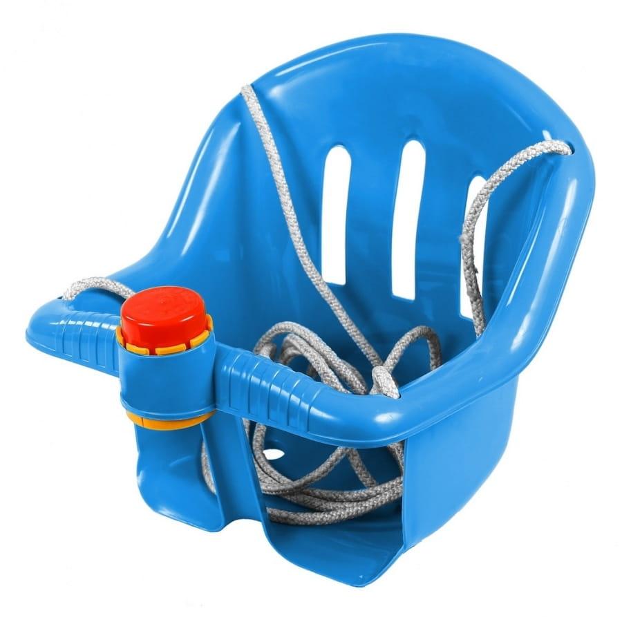 Качели RT ОР757 с барьером безопасности - синие (с клаксоном)
