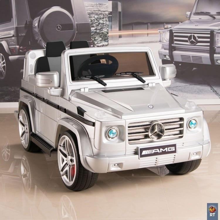 Электромобиль RT Mercedes-Benz AMG New - silver