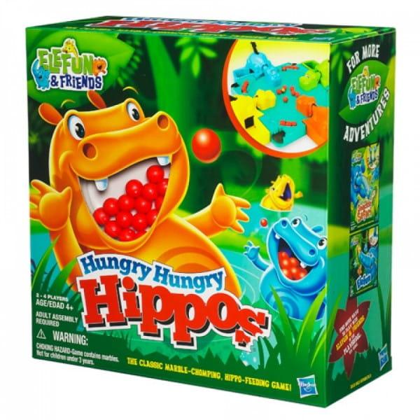 Настольная игра Hasbro Голодные бегемотики (Hungry Hippos)