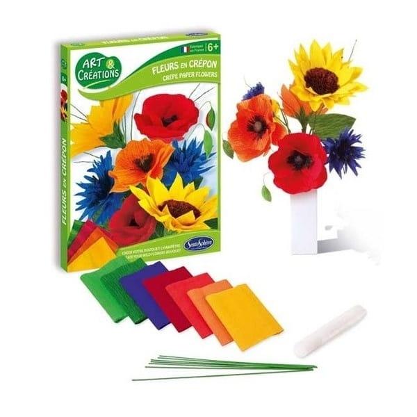 Набор для творчества SentoSphere Бумажные цветы - Полевой букет