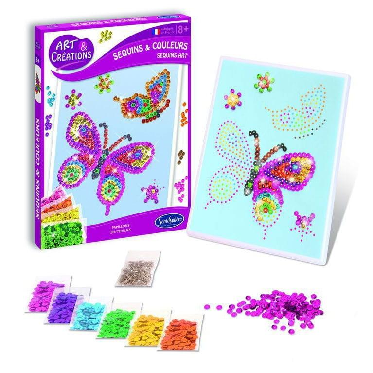 Набор для творчества SentoSphere Создай картину - Блестящие бабочки