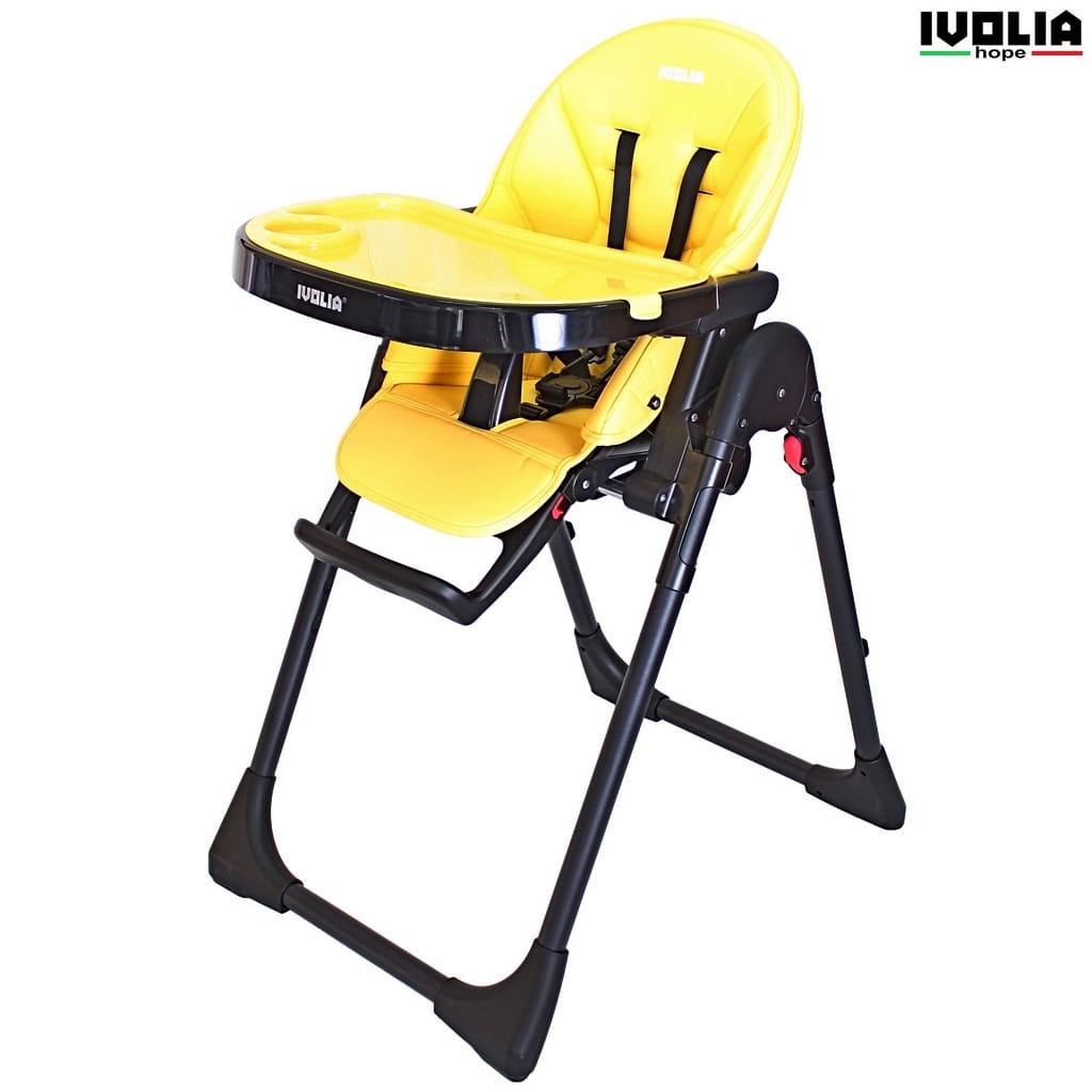 Стульчик для кормления Ivolia 6112 Hope - yellow (2 колеса)