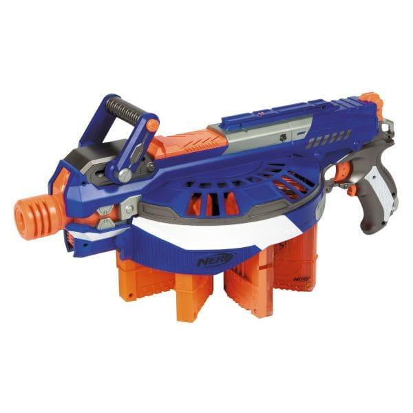 Купить Бластер Nerf Элит Хэйл Файр Elite Hail-Fire (Hasbro) в интернет магазине игрушек и детских товаров
