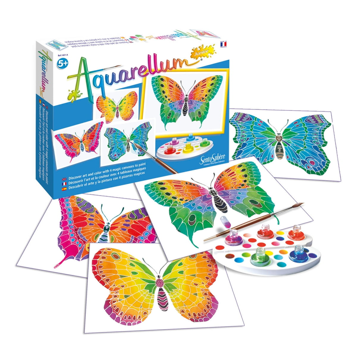 Акварельная раскраска SENTOSPHERE Бабочка