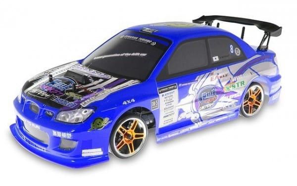 Купить Радиоуправляемый автомобиль для дрифта HSP Flying Fish 1 4WD 1:10 синий в интернет магазине игрушек и детских товаров