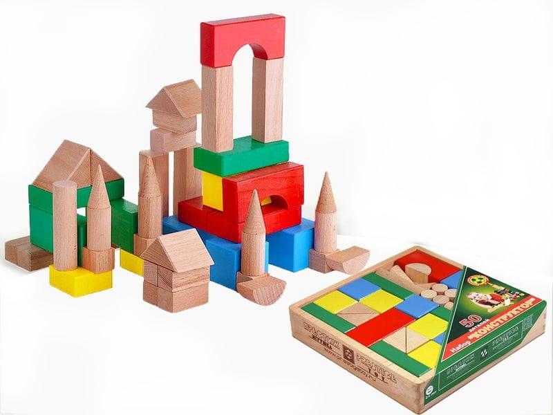 Конструктор Престиж-игрушка КЦ2251 Настольный цветной (50 деталей)