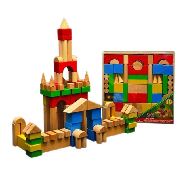 Конструктор Престиж-игрушка КЦ2491 Настольный цветной (90 деталей)
