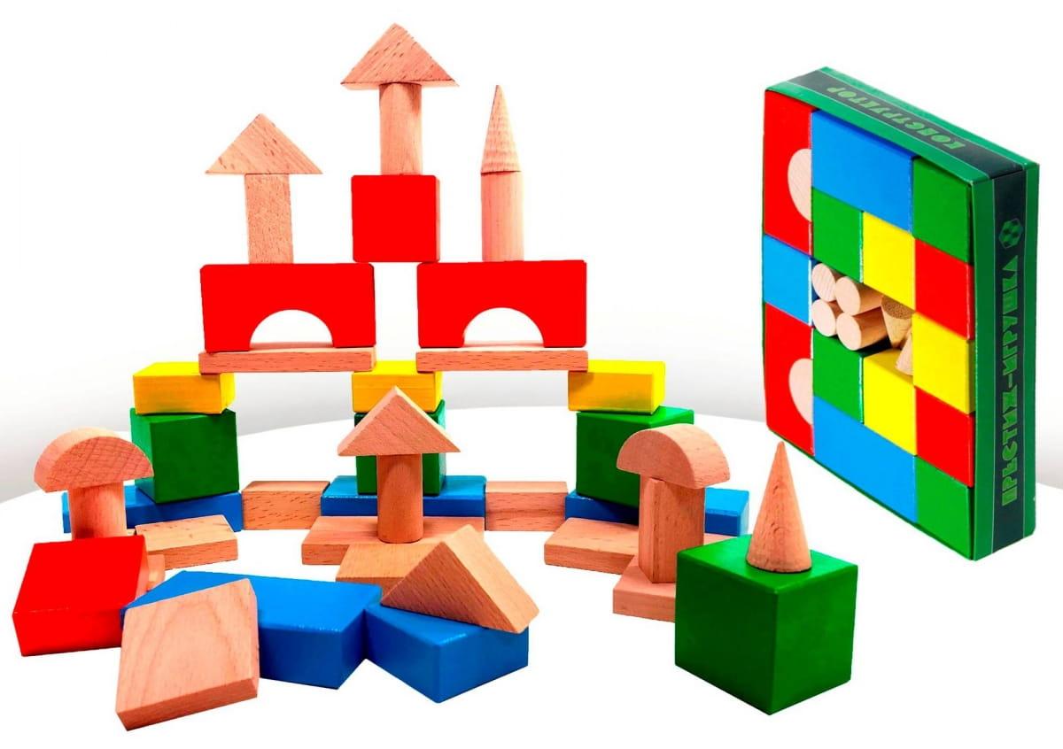 Конструктор Престиж-игрушка СЦ1201 Настольный цветной (42 детали)