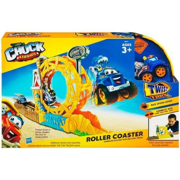 Купить Игровой набор Tonka Chuck and Friends Горка и машинка (Hasbro) в интернет магазине игрушек и детских товаров