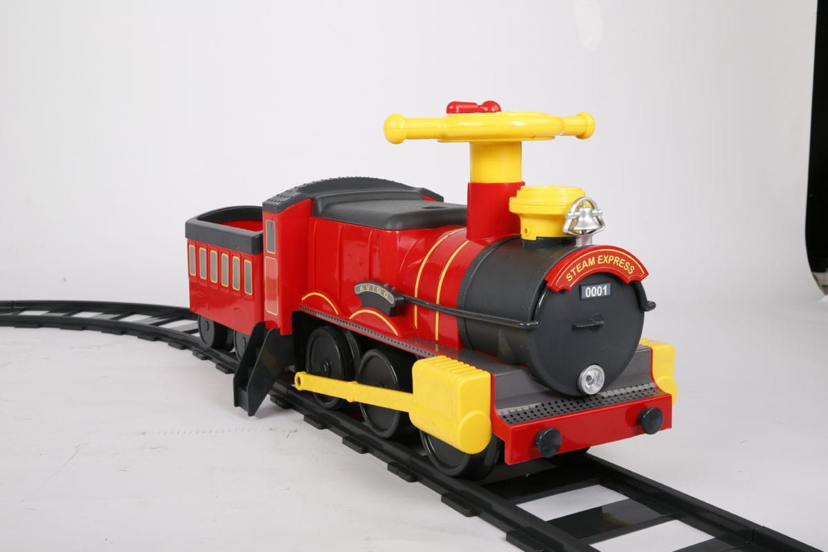 Электрокаталка VIP Toys 7221 Красный паровоз