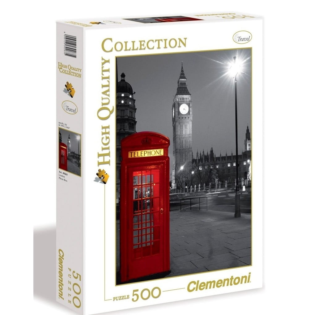 Пазл Clementoni 30263 Лондон Красная телефонная будка - 500 элементов