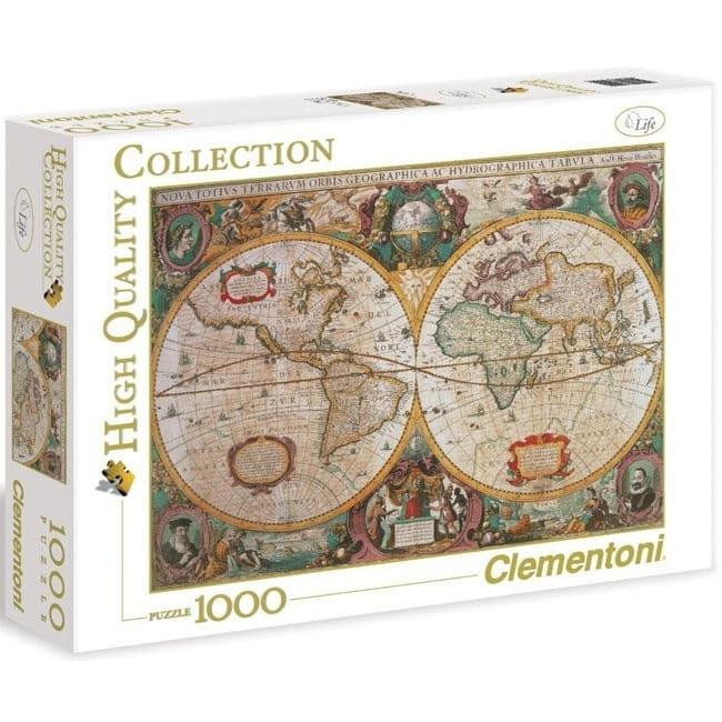 Пазл Clementoni 31229 Древняя карта мира - 1000 элементов