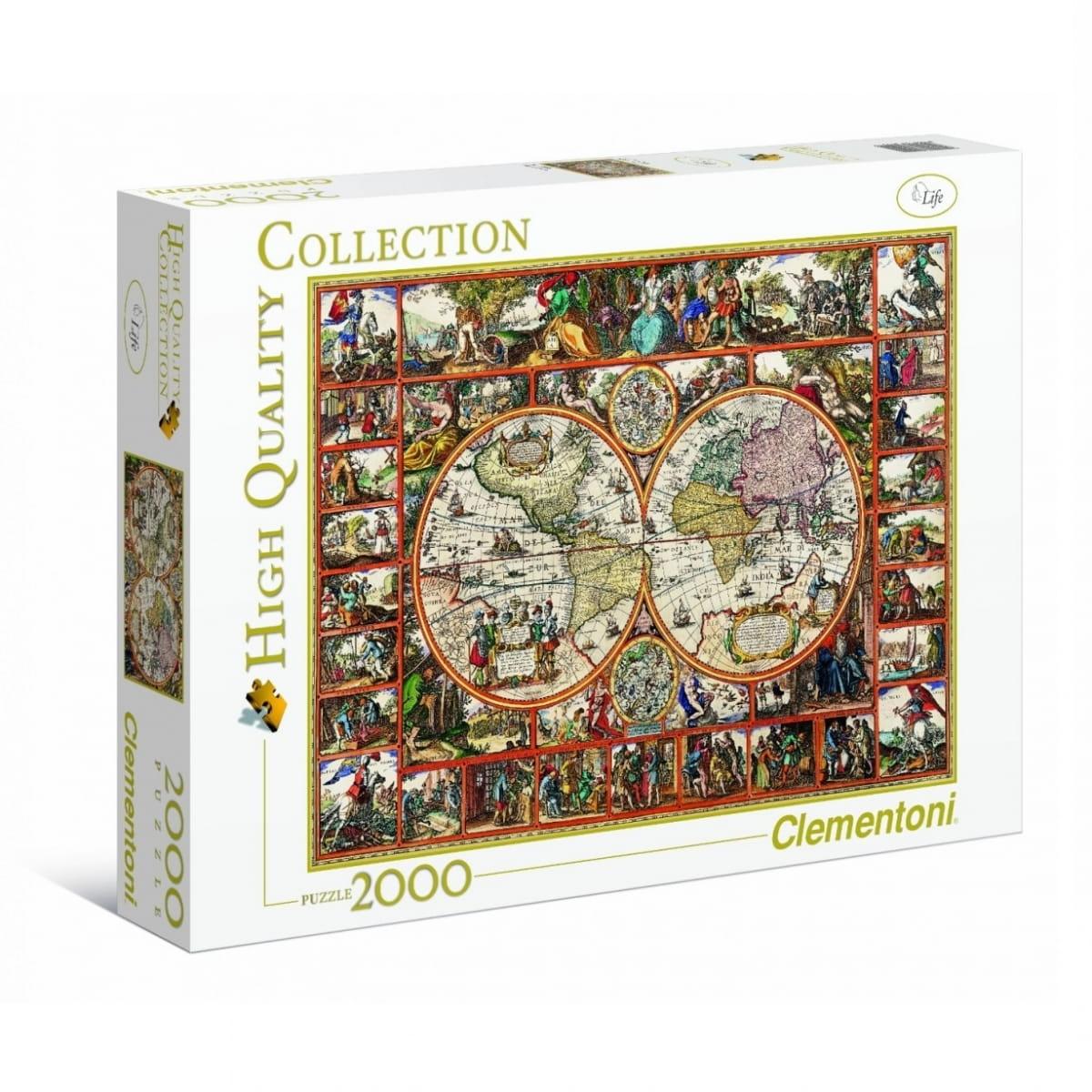 Пазл Clementoni 32551 Старинная карта мира - 2000 элементов