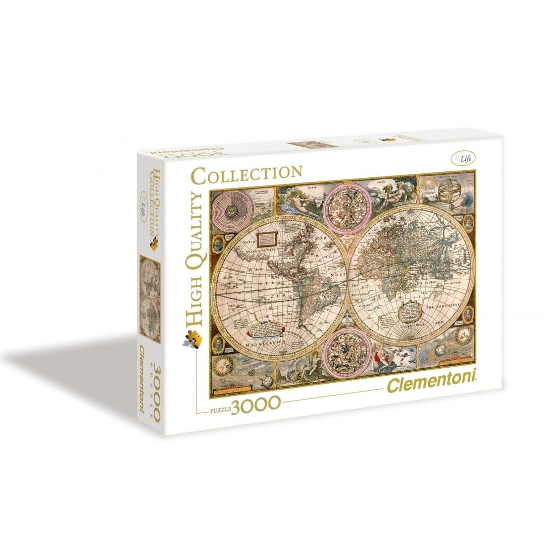 Пазл Clementoni 33531 Древняя карта мира - 3000 элементов