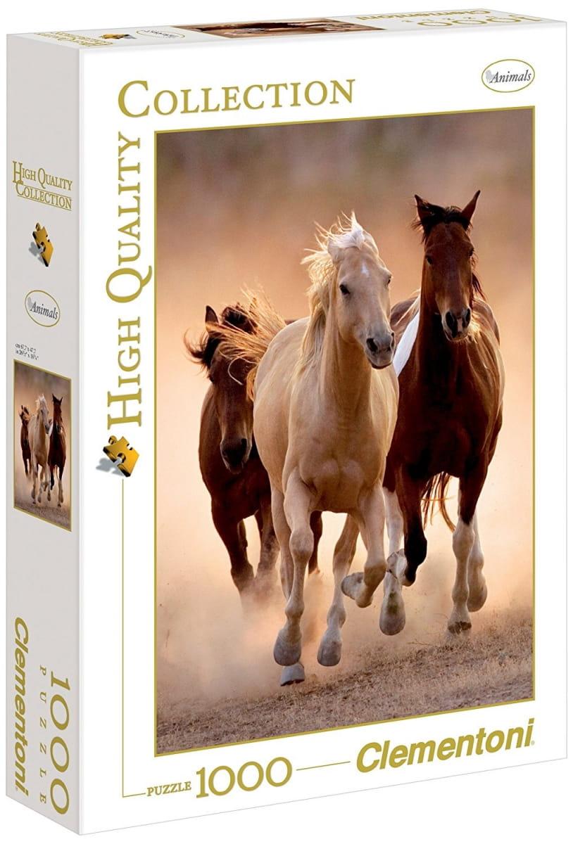 Пазл Clementoni 39168 Бегущие кони - 1000 элементов