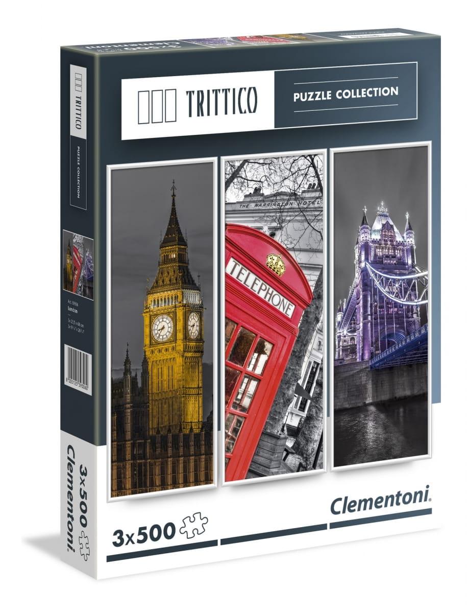 Набор из трех пазлов Clementoni 39306 Trittico Легенды Лондона - 3х500 элементов