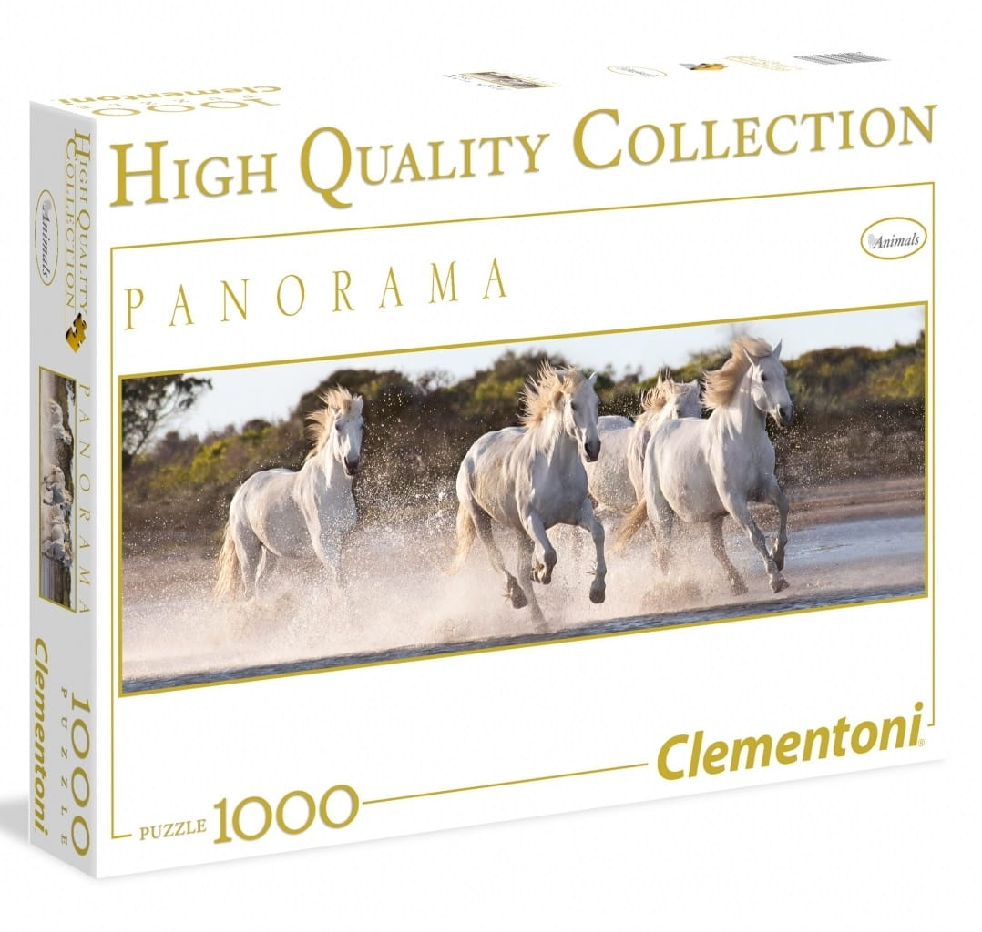 Пазл Clementoni 39371 Панорама Белые лошади - 1000 элементов