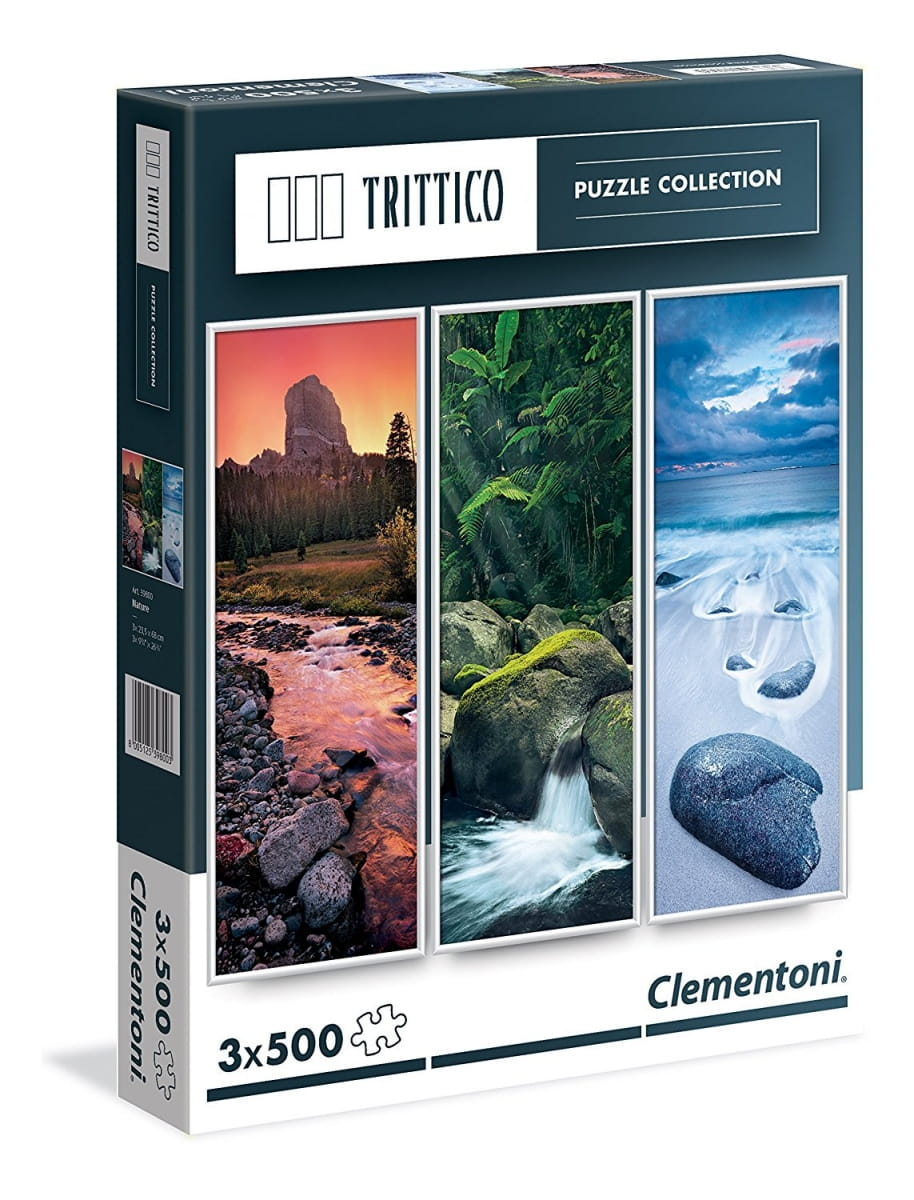 Набор из трех пазлов Clementoni 39800 Trittico Живая вода - 3х500 элементов