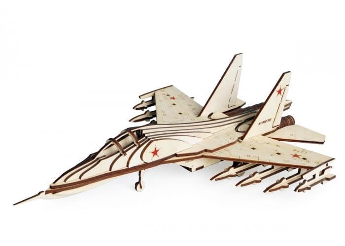 Деревянный конструктор Lemmo СУ-30 Российский истребитель