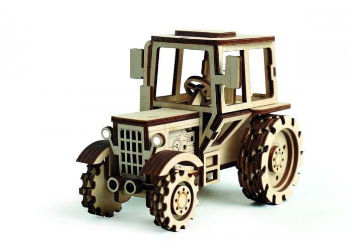 Деревянный конструктор Lemmo 008 Трактор