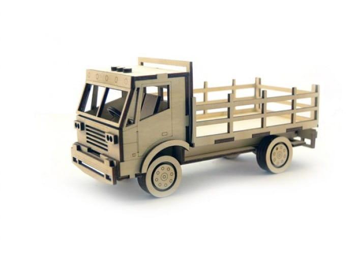 Деревянный конструктор LEMMO Грузовик с кузовом