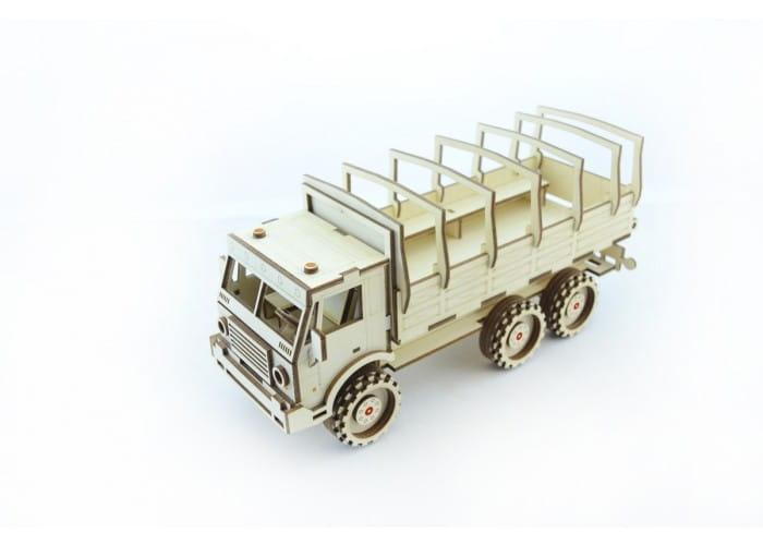 Деревянный конструктор LEMMO Военный грузовик