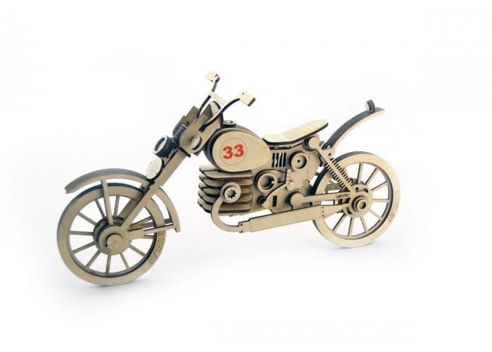 Деревянный конструктор LEMMO Мотоцикл 33