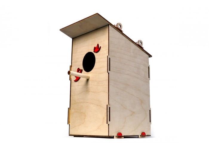 Деревянный конструктор Lemmo 0018 Скворечник для птиц