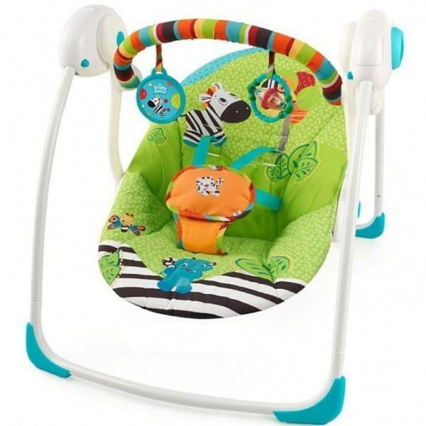 Купить Качели Bright Starts Радужная зебра в интернет магазине игрушек и детских товаров