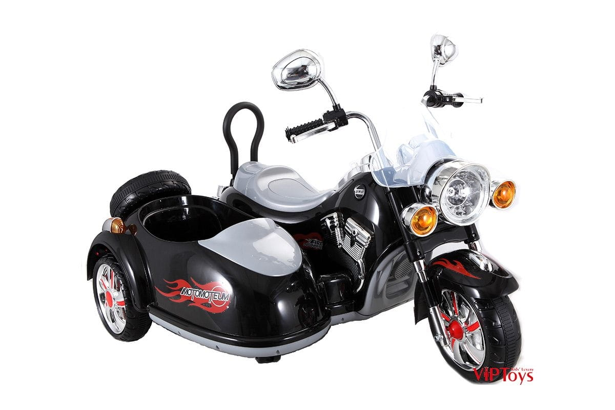 Электротрицикл VIP Toys SX138_черный с коляской - черный