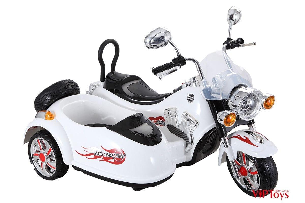 Электротрицикл VIP Toys SX138_белый с коляской - белый