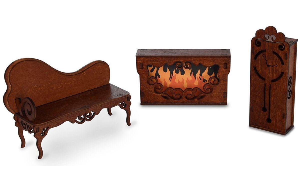 Набор мебели Одним Прекрасным Утром Гостиная (диван, камин, часы)