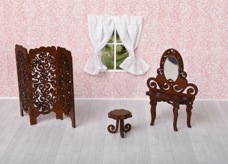 Набор мебели Одним Прекрасным Утром Будуар (туалетный столик, табурет, ширма)