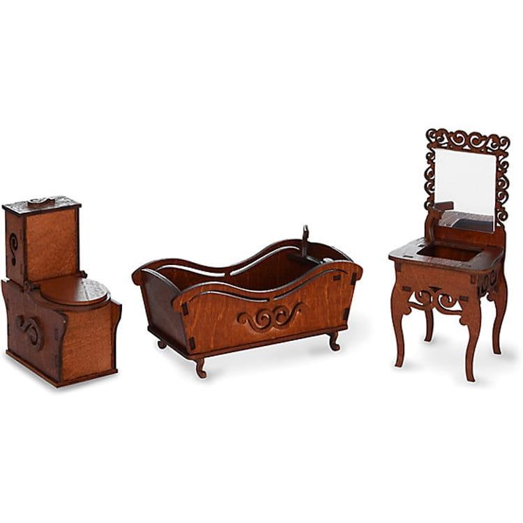 Набор мебели Одним Прекрасным Утром Ванная комната (унитаз, ванна, раковина с зеркалом)