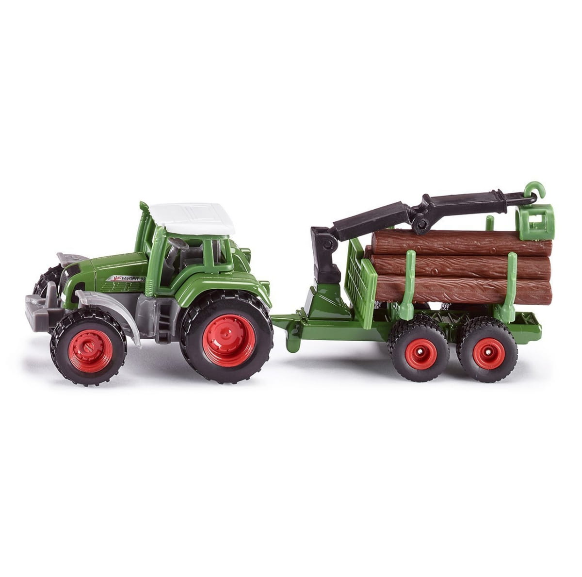 Трактор Siku с прицепом для бревен