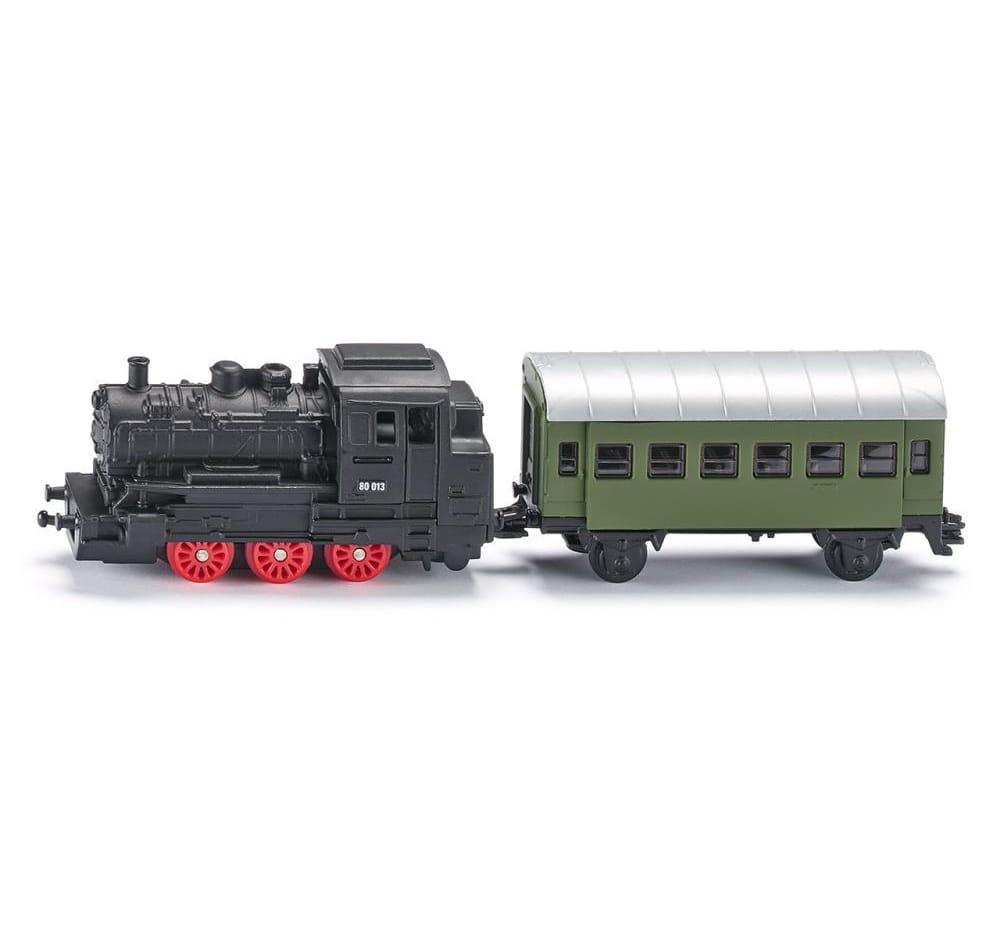 Локомотив Siku с пассажирским вагоном
