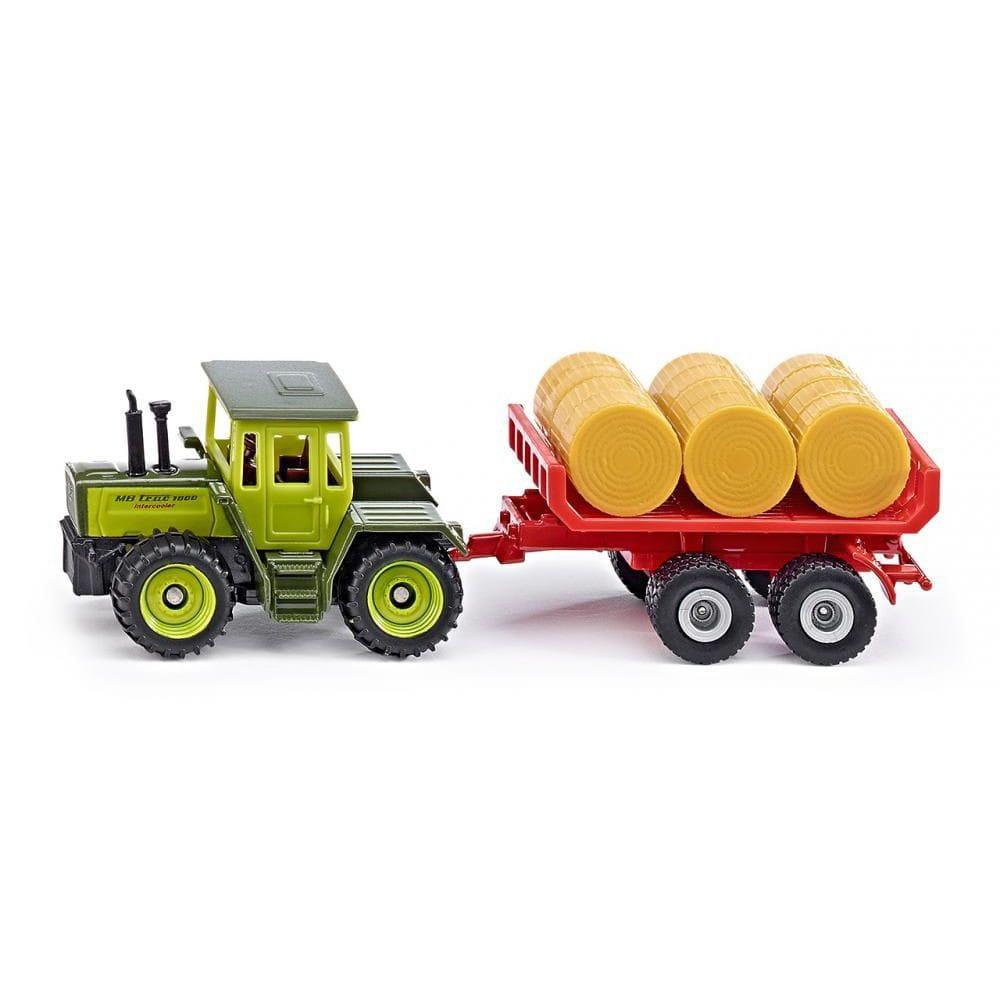 Трактор Siku MB-trac с прицепом для тюков