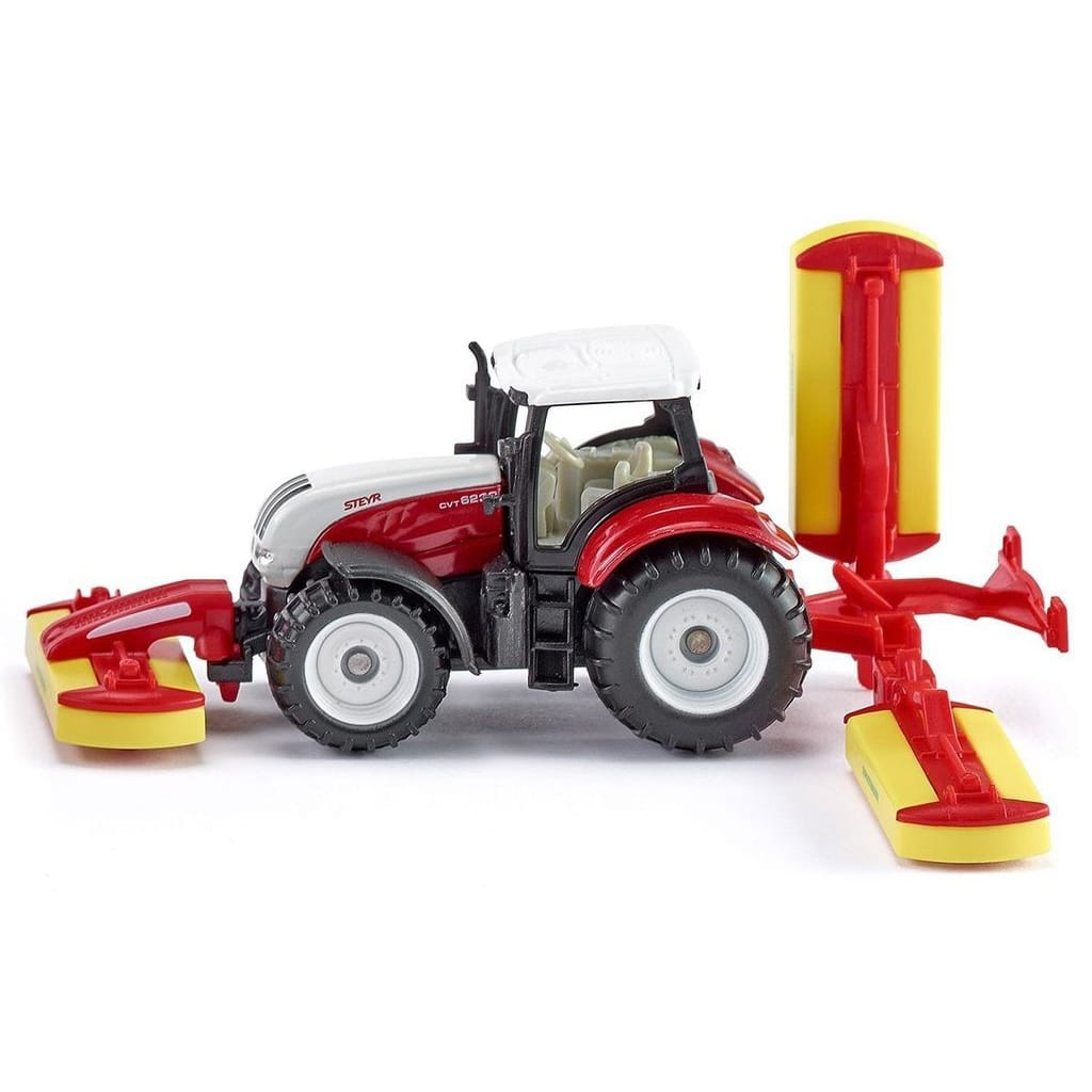 Трактор Siku Steyr с газонокосилкой Poettinger