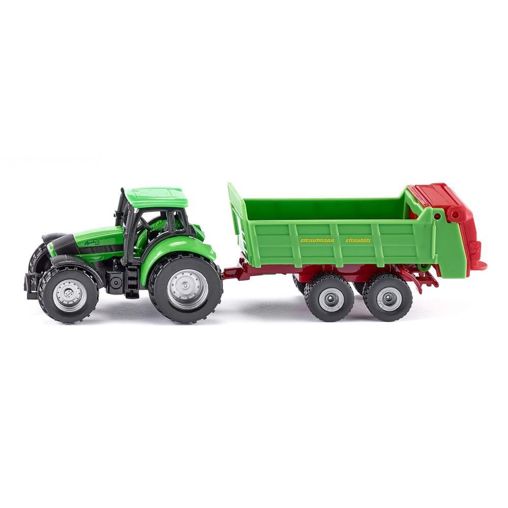 Трактор SIKU с прицепом для удобрений