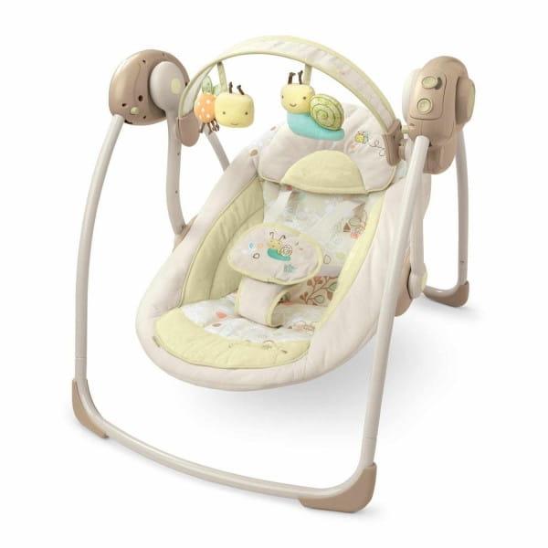 Купить Качели с музыкой Bright Starts Забота и нежность (бежевые) в интернет магазине игрушек и детских товаров