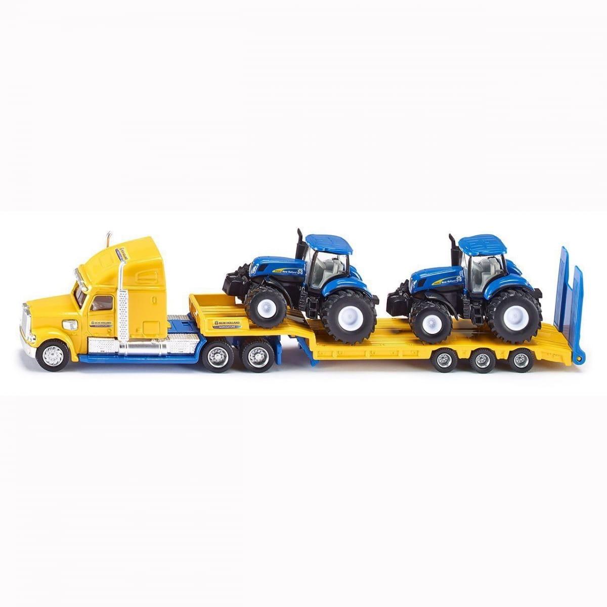 Набор SIKU Грузовик с двумя тракторам New Holland 1:87